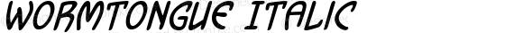 Wormtongue Italic