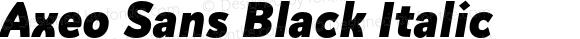 Axeo Sans Black Italic