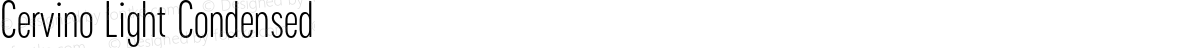 Cervino Light Condensed