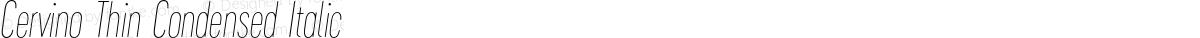 Cervino Thin Condensed Italic