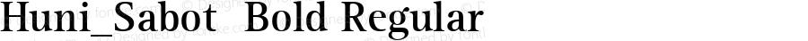 Huni_Sabot  Bold Regular 1.0,  Rev. 1.65.  1997.06.15