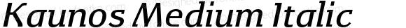 Kaunos Medium Italic