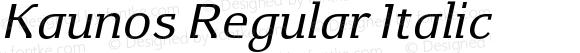 Kaunos Regular Italic