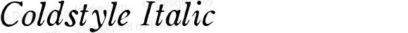 Coldstyle Italic