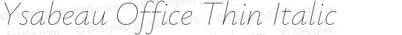 Ysabeau Office Thin Italic
