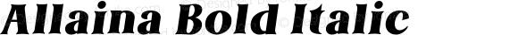 Allaina Bold Italic