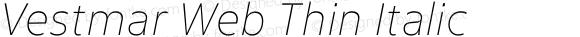 Vestmar Web Thin Italic