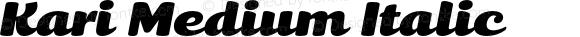 Kari Medium Italic