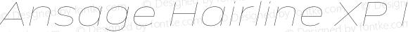 Ansage Hairline XP Italic