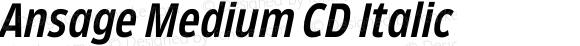 Ansage Medium CD Italic