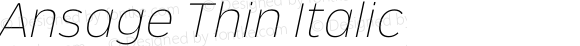 Ansage Thin Italic