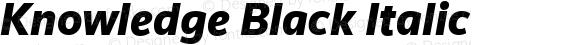 Knowledge Black Italic