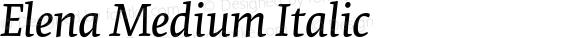 Elena Medium Italic