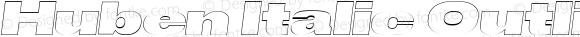Huben Italic Outlined
