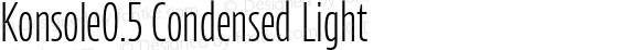 Konsole0.5 Condensed Light