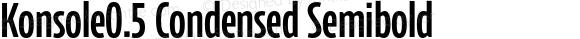 Konsole0.5 Condensed Semibold