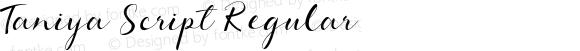 Taniya Script Regular
