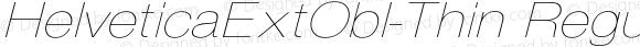 HelveticaExtObl-Thin