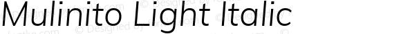 Mulinito Light Italic