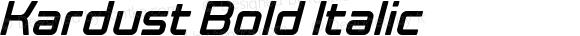 Kardust Bold Italic