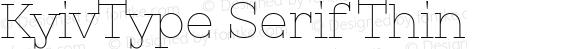 KyivType Serif Thin