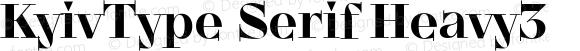 KyivType Serif Heavy3