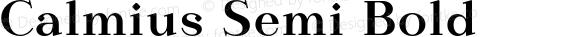 Calmius Semi Bold