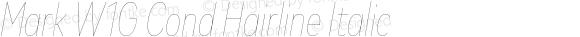 Mark W1G Cond Hairline Italic