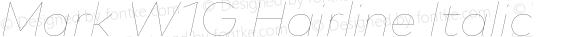 Mark W1G Hairline Italic