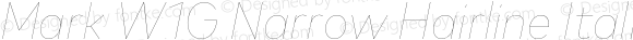 Mark W1G Narrow Hairline Italic