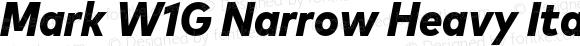 Mark W1G Narrow Heavy Italic