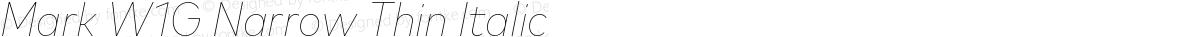 Mark W1G Narrow Thin Italic