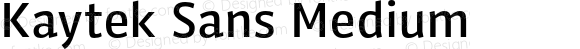 Kaytek Sans Medium