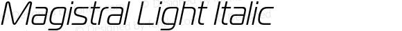 Magistral Light Italic
