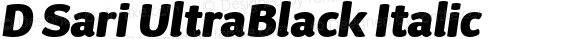 D Sari UltraBlack Italic