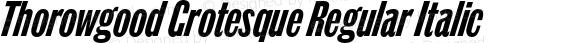Thorowgood Grotesque Regular Italic