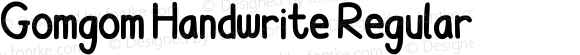 Gomgom Handwrite Regular