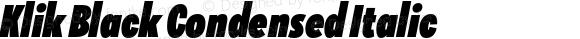 Klik Black Condensed Italic