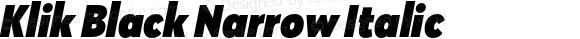 Klik Black Narrow Italic