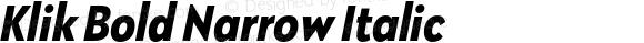 Klik Bold Narrow Italic