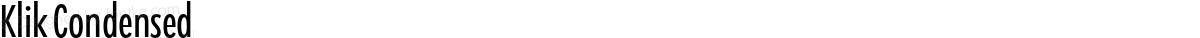 Klik Condensed