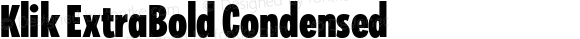 Klik ExtraBold Condensed