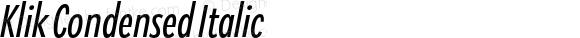 Klik Condensed Italic