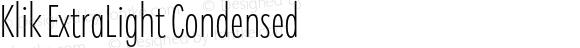 Klik ExtraLight Condensed