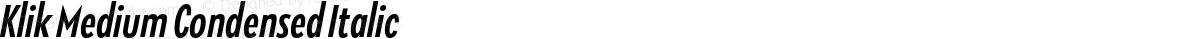 Klik Medium Condensed Italic