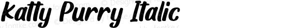 Katty Purry Italic