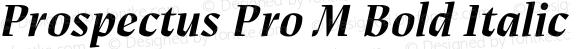 Prospectus Pro M Bold Italic