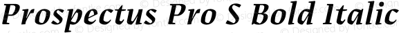 Prospectus Pro S Bold Italic