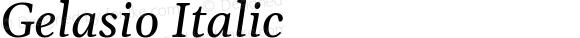 Gelasio Italic