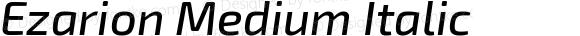 Ezarion Medium Italic